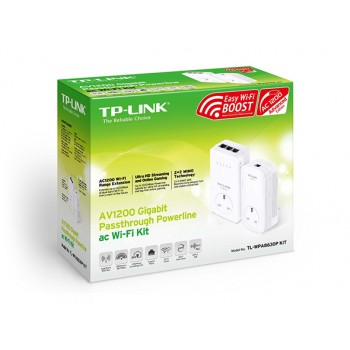 TP-Link AV1200 Gigabit Passthrough Powerline ac Wi-Fi Kit (TL-WPA8630P KIT)