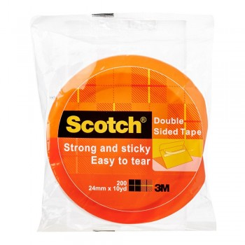 3M Scotch200 Double Sided Tissue Tape 24mmx10Yds