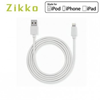 ZIKKO MFI LIGHTNING TO USB CABLE 1M (WHITE)