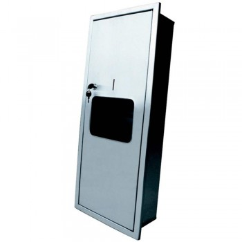 (Recessed) S/S 2 in 1 Paper Towel Dispenser and Disposal PTD-190/SS