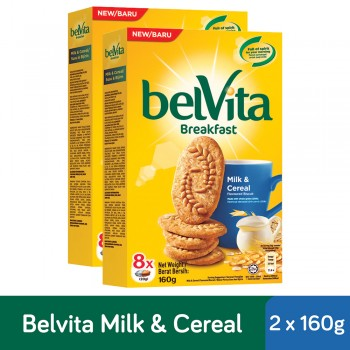 Belvita Breakfast Milk & Cereal Biscuit (160g x 2)