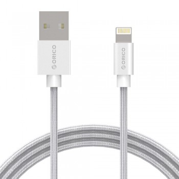 Orico LTF 1M Lightning Charge & Data Cable with Nylon Braided - Silver