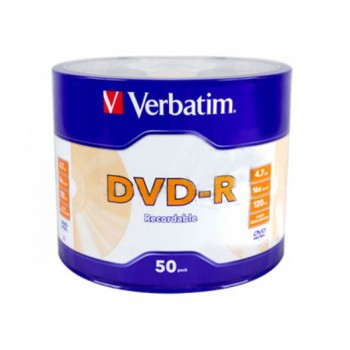 Verbatim DVD-R 4.7GB 16X with Branded Surface - 50PCS