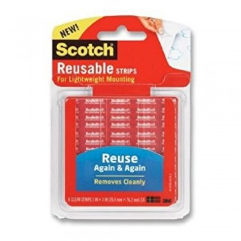3M Scotch Reusable Tabs 1 x 3 inch R101