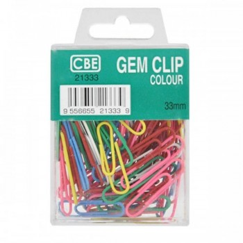 CBE 21333 33MM Colour Gem Clip (70'S)