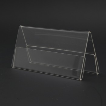 Acrylic A120 Card Stand - 120mm (W) x 55mm (H)