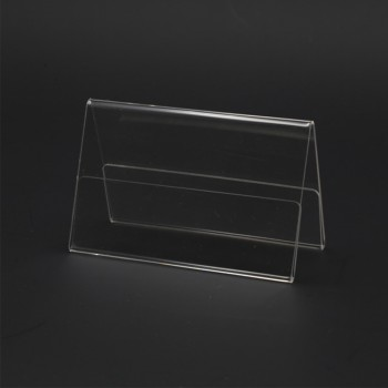 Acrylic A90 Card Stand - 90mm (W) x 55mm (H)