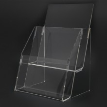 Acrylic A5 Brochure Holder Stand 2 Layer - 150mm (W) x 210mm (H)