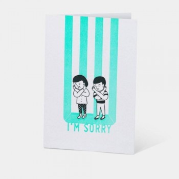 Letterpress Card - I'm Sorry
