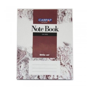 Campap Cw2302 F5 Pvc Cover Note Book 200P (Item No: C02-02) A1R4B1170P
