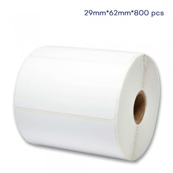 62mm W x 29mm H, 800pcs per roll Direct Thermal Paper