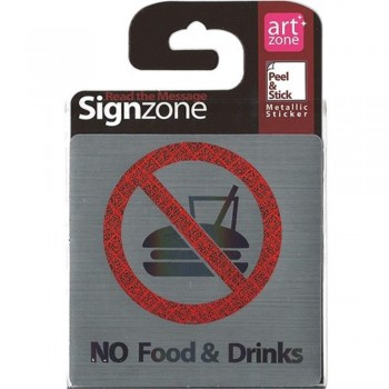 Signzone P&S Metallic-9595 NoFood&Drinks (Item No: R01-44)