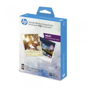 HP Social Media Snapshots Removable Sticky Photo Paper - 25 sheets (4x5 inch)