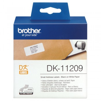 Brother DK11209 Small Address Label 29mm x 62mm