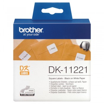 Brother DK11221 Permanent Adhesive Square Labels - 23mm x 23mm