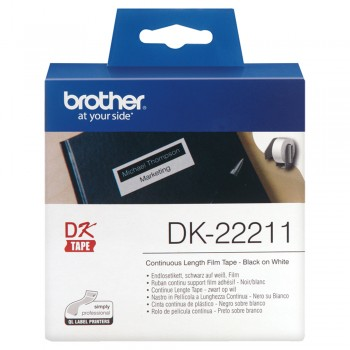 Brother DK22211 Continuous Length Paper Tape - 29mm x 15.24m