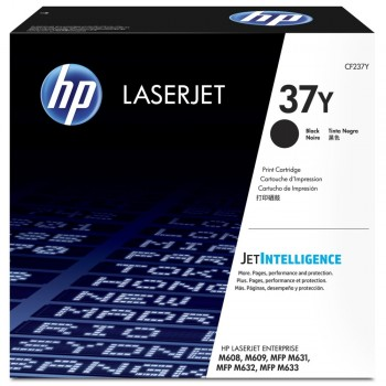 HP 37Y Extra High Yield Black Original LaserJet Toner Cartridge (CF237Y)