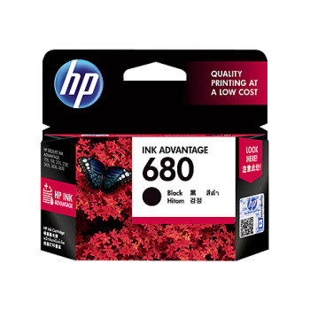 HP 680 Black Original Ink Advantage Cartridge (F6V27AA)