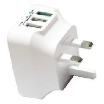 Ion Qualcomm Quick Charge 3.0 25W 3 USB Ports Travel Charger (White)