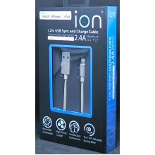 ION 2.4A APPLE USB SYNC & CHARGE CABLE 1.2M (GOLD)