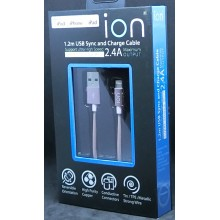 ION 2.4A APPLE USB SYNC & CHARGE CABLE 1.2M (ROSE GOLD)
