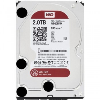 Western Digital Red 2TB NAS Hard Disk Drive - 5400 RPM Class SATA 6 Gb/s 64MB Cache 3.5 Inch - WD20EFRX